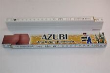Berufe Zollstock  - AZUBI AUSZUBILDENDER ARSCH ZUM BIER HOLEN  2m  Holz