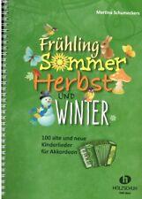 Akkordeon Noten : Frühling Sommer Herbst und Winter - 100 Volkslieder