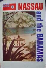 BAHAMAS NASSAU 1963 Vintage Travel tourism poster 28x42