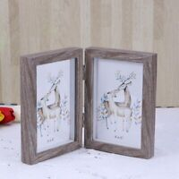 4x6 Inch Fashion Simple Wooden Picture Frame Double Rectangular Photo Frame