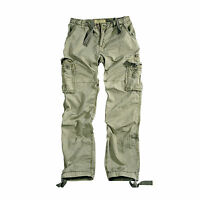 Alpha Industries Jet Pant Cargo Trousers, Olive, Green, Light, Pants, New