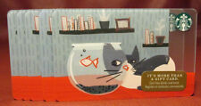Lot of 9 Starbucks, 2017 Gray Kitty and Fish Bowl Gift Cards New with Tags