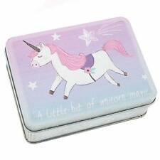 Unicorn Tin for Tiny Things Children Christmas Stocking Filler Box Pink Purple