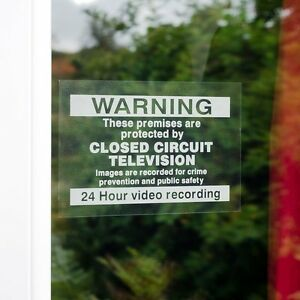 Pack of 5 Warning These Premises Are Protected By CCTV 150mm x 100mm