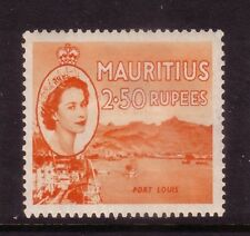MAURITIUS....  1953-58  2.5rupee fort louis  mint