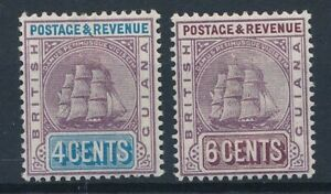 [56643] British Guiana 1889 lot 2 good MH Very Fine stamps