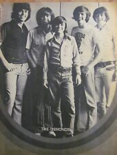 Osmonds, Donny Osmond, Full Page Double Pinup, Brothers, David Cassidy