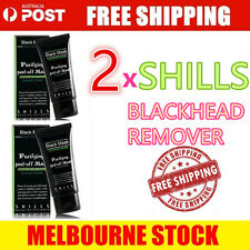 2x Face Mask SHILLS Nose Blackhead Acne Pore Deep Remover Cleansing Strip Black