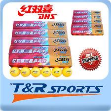 60x DHS 3 Star 40mm Table Tennis / Ping Pong WHITE Balls