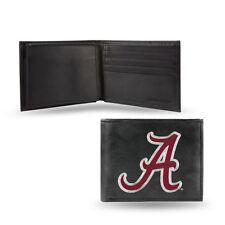 Alabama Crimson Tide Embroidered Bifold Genuine Leather Wallet Gift Tin