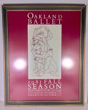 Vintage Oakland Ballet 1981 Fall Season Poster Framed Dance California Ballerina