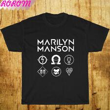 Best Of Marilyn Manson Rock Band Legend Logo Music Men's Black T-Shirt S-3Xl