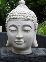 Buddha Kopf-Old Style-Büste-Skulptur-24 cm-Steinguss-Frostfest Garten