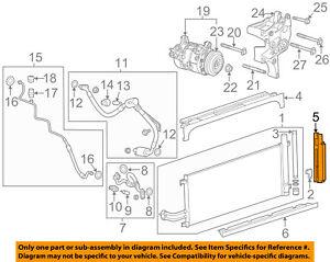 GM OEM A/C AC Condenser/Compressor/Line-Side Baffle Left 23435604