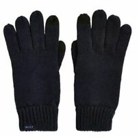 Jack Wills Mens Elwyn Rib Knit Gloves Winter BLACK One Size A331-3