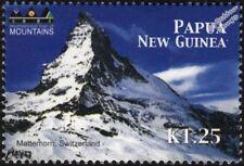 MATTERHORN (Switzerland) Swiss Alps Mountain Stamp (2002 Papua New Guinea)