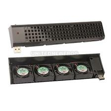 USB 4 Quad Fan Fans Cooling Cooler For Sony Playstation 3 PS3 Black NEW ARRIVAL