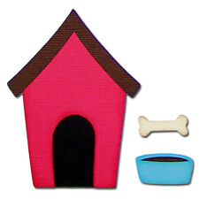 CLEARANCE - Dog Puppy House Bone Bowl Handmade Premade Scrapbook Embellishments