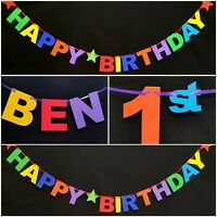 PERSONALISED HAPPY 1st BIRTHDAY PARTY BANNER First 10th 13th 16th 18th 21st 40th