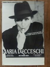 Affiche MARIA DUCCESCHI One woman show