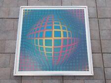 "Victor Vasarely  , "" Vega-Nor "" , Grande Serigraphie des 70's"