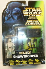 Star Wars Deluxe Snowtrooper With E-Web Heavy Repeating Blaster - kenner *