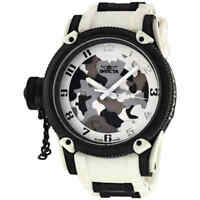Invicta Russian Diver Special Ops White Siberian Tiger Men's Watch 1195
