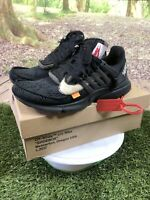 THE 10 : NIKE AIR PRESTO OFF WHITE AA3830-002 SZ 10 SNEAKERS BLACK AUTHENTIC 🔥