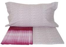 LENZUOLA 1 piazza in flanella di cotone per letto singolo Line colore bordeaux