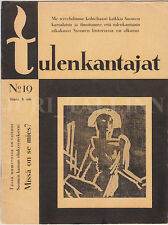 "FUTURISTICS Cover by Sylvi KUNNAS ""TULENKANTAJAT"" Literary Grouping FINLAND 1929"
