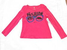 NWT Girls, TOTAL GIRL, 18 1/2 PLUS, fuschia pink long sleeve top pullover blouse