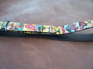 From BB Designs Marvel Comic Book Belt Size Medium 31-37 Inches