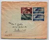 Italy 1940s Airmail Cover to USA / Top Tears - Z13603