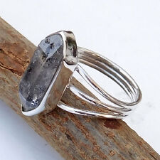 Natural Raw Rough HERKIMER DIAMOND Ring Fine Silver Anniversary Gift Ring-EB931