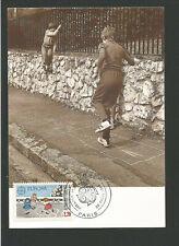jeux d'enfants France EUROPA 1989 oblit. 1er jour Paris carte maximum / TR3396