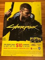 """GAMESTOP PROMOTIONAL CYBERPUNK 2077 48""""x 33"""" DOUBLE SIDED DISPLAY+FREE SHIP🔥"""