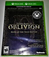 ELDER SCROLLS IV OBLIVION GAME OF THE YEAR XBOX 360 NEW! ALSO WORKS W/ XBOX ONE