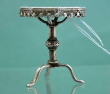 More details for antique chinese export silver miniature dolls house table 4.5 cm hung chong co