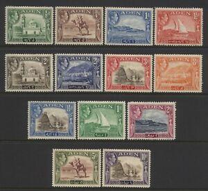 Aden KGVI Values Set Mounted Mint