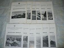 CLUB ALPINO ITALIANO SEZIONE DI MILANO BOLLETTINO MENSILE ANNATA COMPLETA 1952