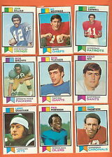 1973 Topps Football you pick commons 9 picks for $3.00 EX and better cond.