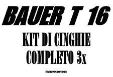 ★KIT CINGHIE DI RICAMBIO 3 x PROIETTORE SUPER 8 mm BAUER T 16 ★