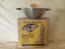 Vintage The Original Atom Pop Corn Popper by QuinCraft No Shake No Stir Atom-Pop