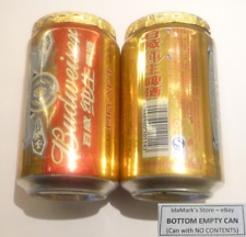 EMPTY - BUDWEISER DRAFT BEER can CHINA 2015 Empty Asia Collect Chinese Foil Top