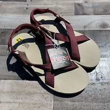 NEW FLOJOS Outdoor Powell Adjustable Strap Sandals Maroon/Tan Mens Size 13
