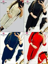 Women Fashion Casual Indian Short Kurti Tunic Kurta Top Shirt Dress