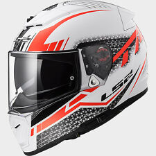 CASCO HELMET INTEGRALE FF390 BREAKER SPLIT WHITE RED  LS2 SIZE XL