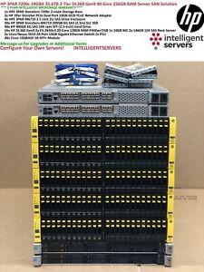 HP 3PAR 7200c 2-Tier 35TB SSD & SAS 10Gbit iSCSI DL360 Gen9 40-Core SAN Solution