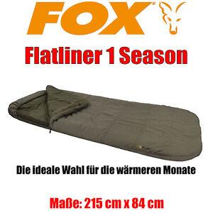 Fox Flatliner 1 Season Sleeping Bag - Schlafsack Karpfenangeln Carp 210x88cm