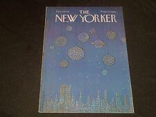 1976 DECEMBER 27 NEW YORKER MAGAZINE - BEAUTIFUL FRONT COVER ART - J 2703